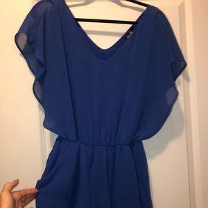 Other - Royal blue boutique romper size M/L